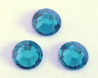 36 Blue Zircon Swarovski Hot Fix Crystals 2028 ss16